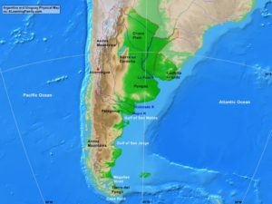 Argentina and Uruguay: Physical Map - A Learning Family