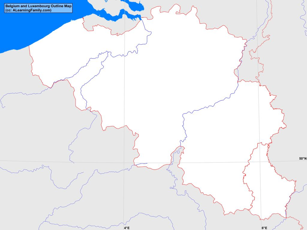 belgium and luxembourg outline map cc a learning family