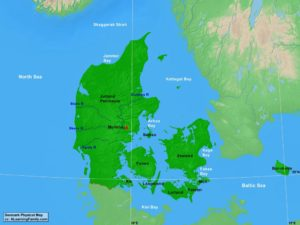 Denmark physical map (cc: A Learning Family).