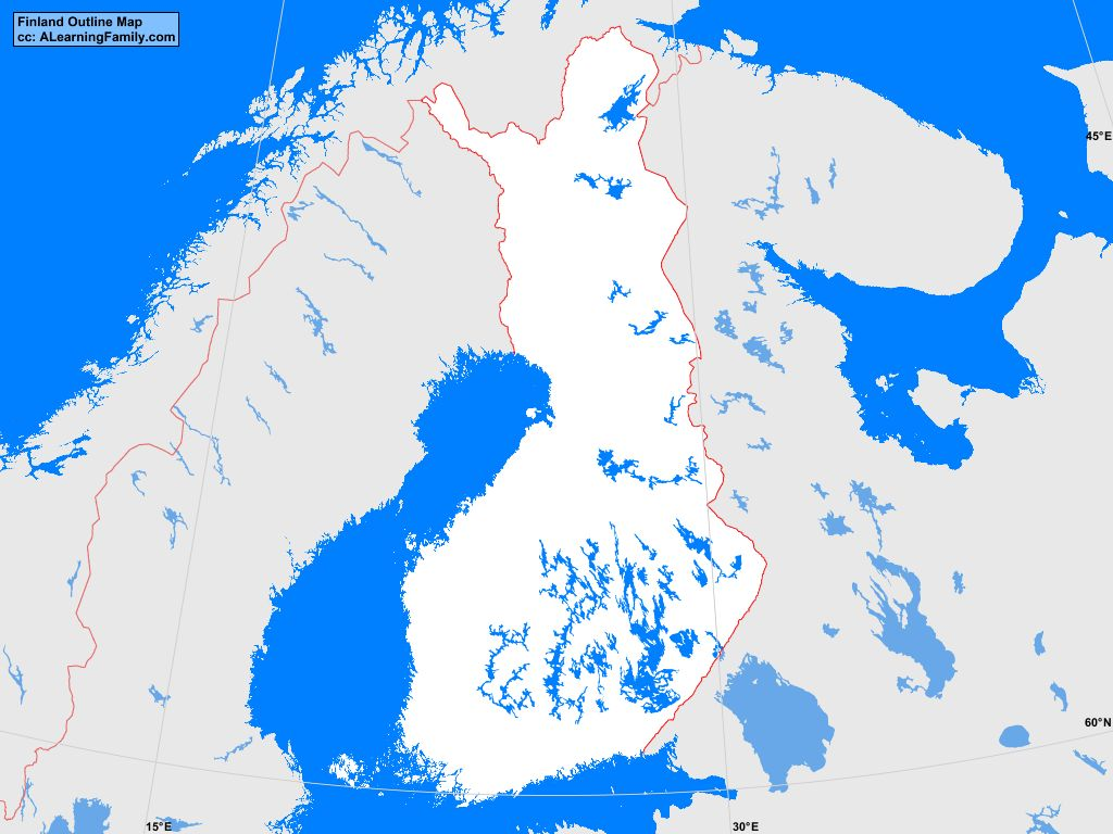 Finland Outline Map A Learning Family