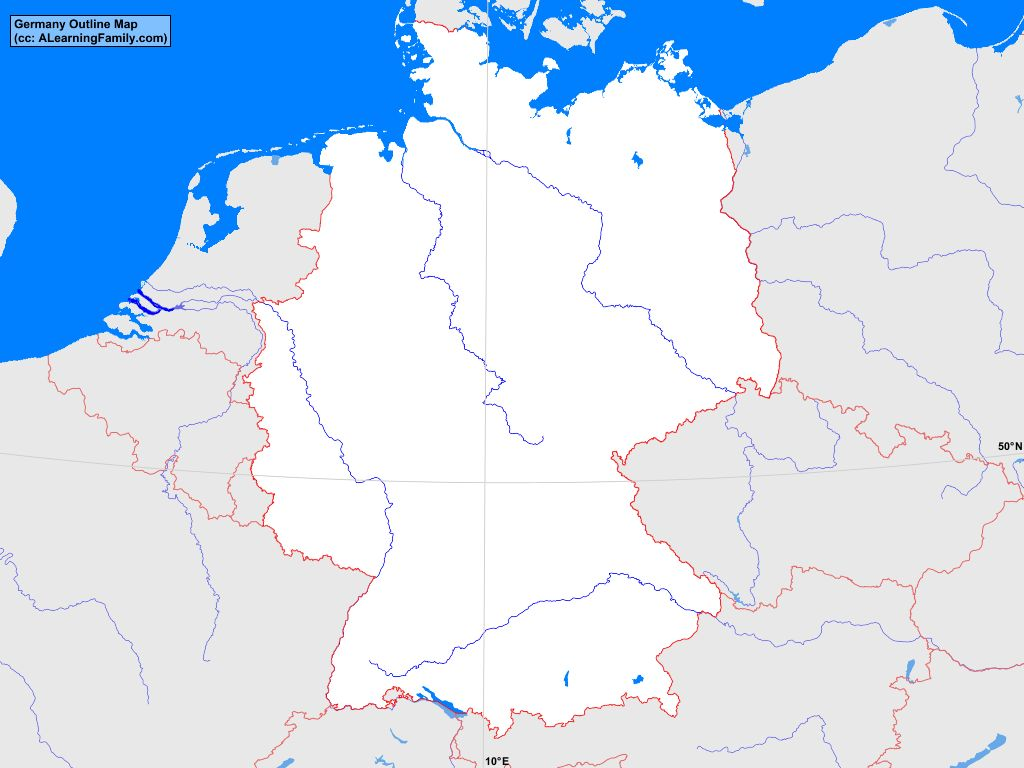 Outline Map Of Germany.Germany Outline Map A Learning Family