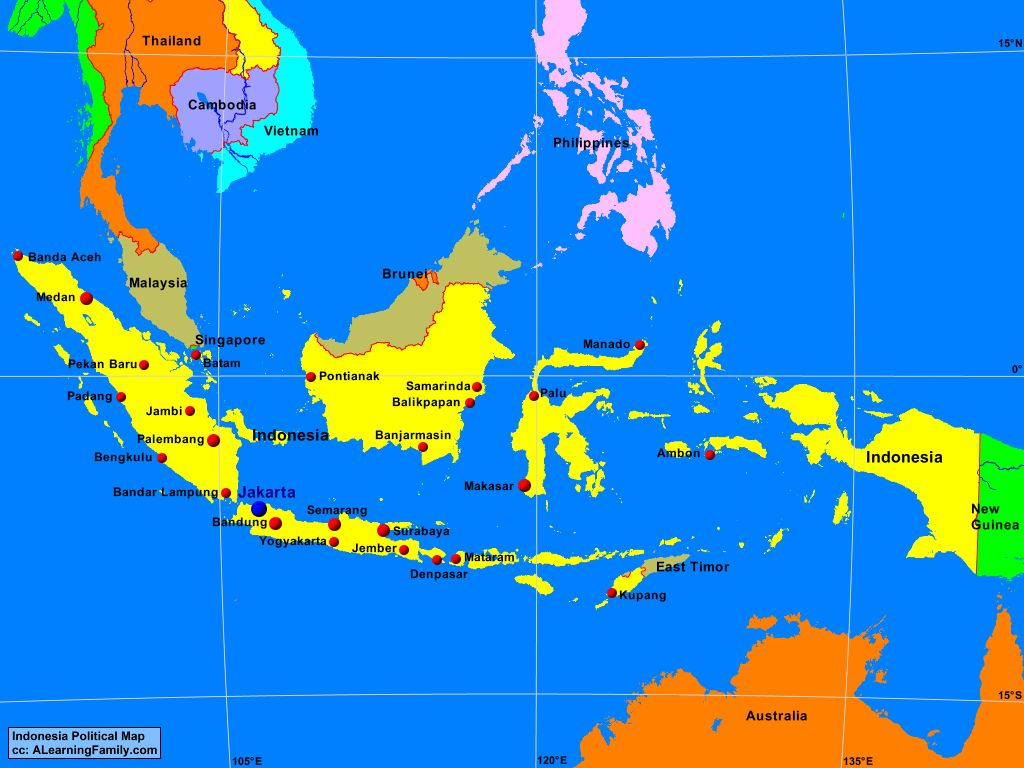 Indonesia39s Physical Geography A Learning Family