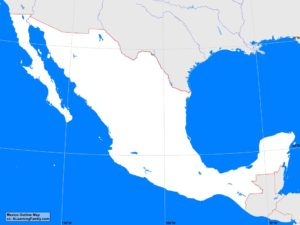Mexico outline map (cc: A Learning Family)