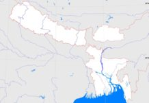 Bangladesh, Bhutan and Nepal outline map (cc: A Learning Family).