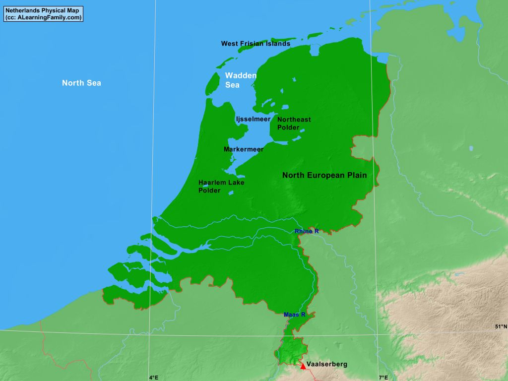 Netherlands Physical Map A Learning Family