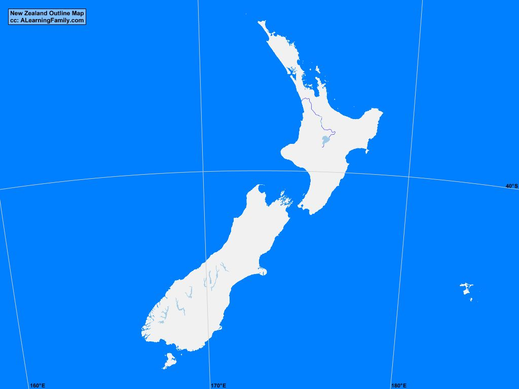 New zealand outline map a learning family new zealand outline map cc a learning family gumiabroncs Gallery