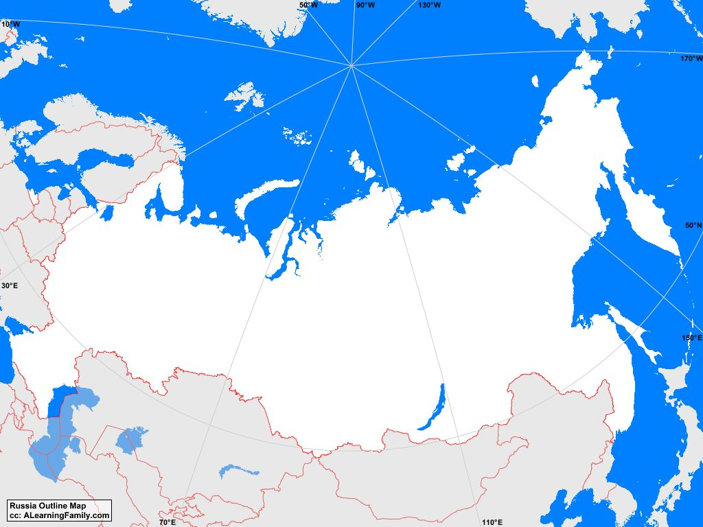 Russia Outline Map A Learning Family