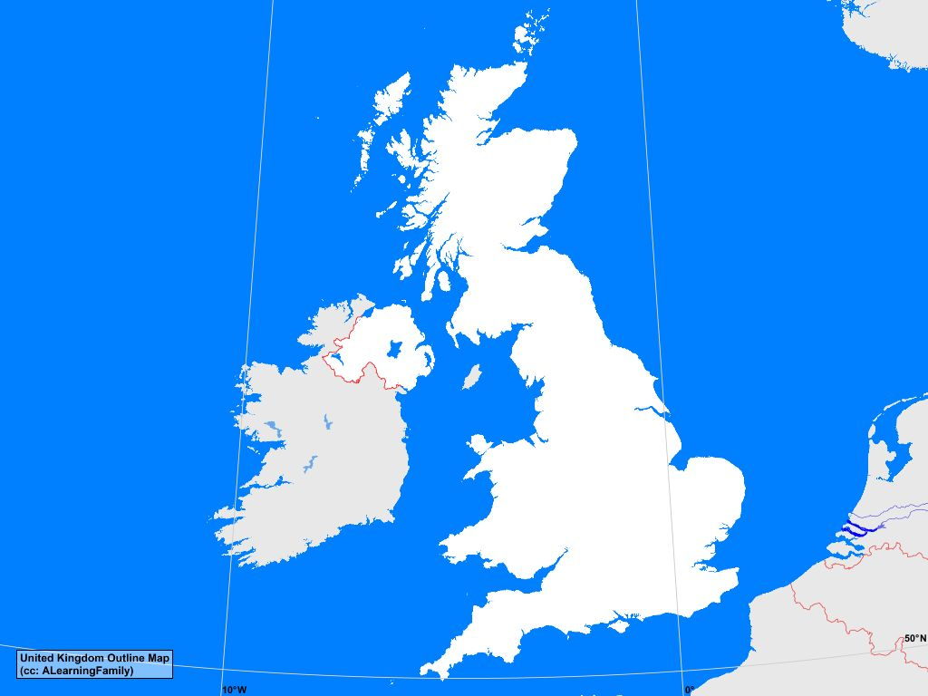 united kingdom outline map a learning family